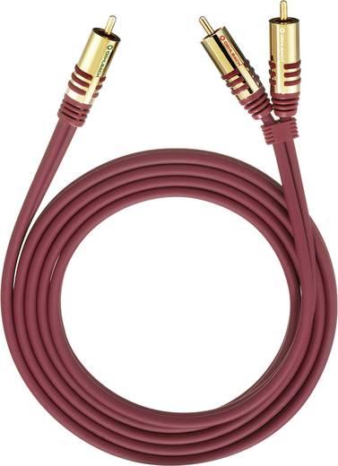 Cinch Audio Y-Kabel [2x Cinch-Stecker - 1x Cinch-Stecker] 5 m Rot vergoldete Steckkontakte Oehlbach