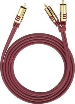 Připojovací kabel Oehlbach, cinch zástr./cinch zástr., červený, 5 m