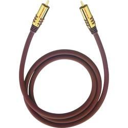 Cinch audio prepojovací kábel Oehlbach 20533, 3 m, bordó
