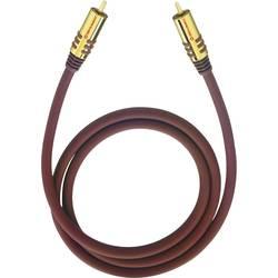 Cinch audio prepojovací kábel Oehlbach 20535, 5 m, bordó