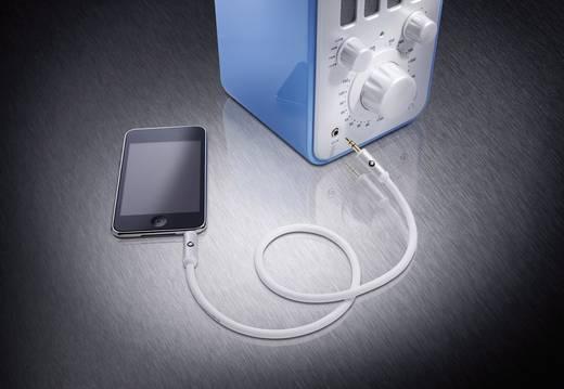 Klinke Audio Anschlusskabel [1x Klinkenstecker 3.5 mm - 1x Klinkenstecker 3.5 mm] 5 m Weiß vergoldete Steckkontakte Oehl