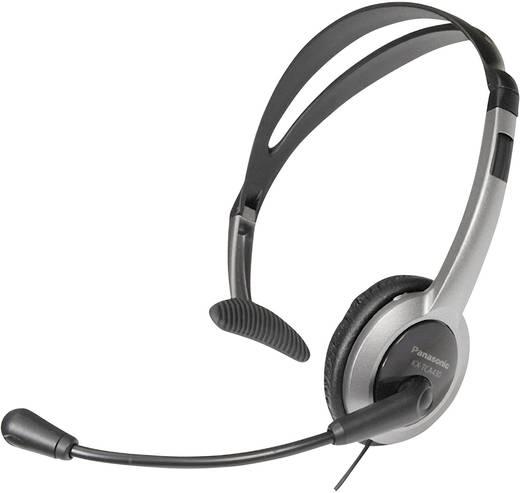 Telefon-Headset 2.5 mm Klinke schnurgebunden, Mono Panasonic RP-TCA 430 On Ear Silber, Schwarz