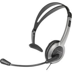 Telefónne headset Panasonic RP-TCA 430, káblový, mono, strieborná, čierna
