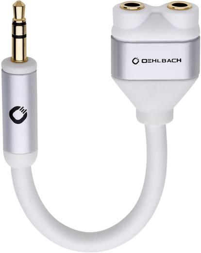 Klinke Audio Y-Adapter [1x Klinkenstecker 3.5 mm - 2x Klinkenbuchse 3.5 mm] Weiß Oehlbach i-Connect J-AD