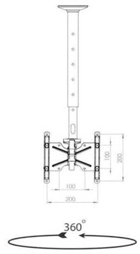 "TV-Deckenhalterung 55,9 cm (22"") - 106,7 cm (42"") Neigbar+Schwenkbar VCM Morgenthaler TDH-3"
