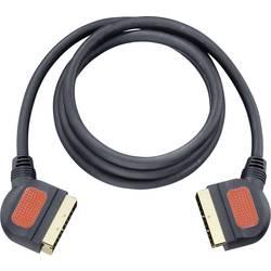 SCART TV, prijímač prepojovací kábel Oehlbach 5702, 1.50 m, čierna