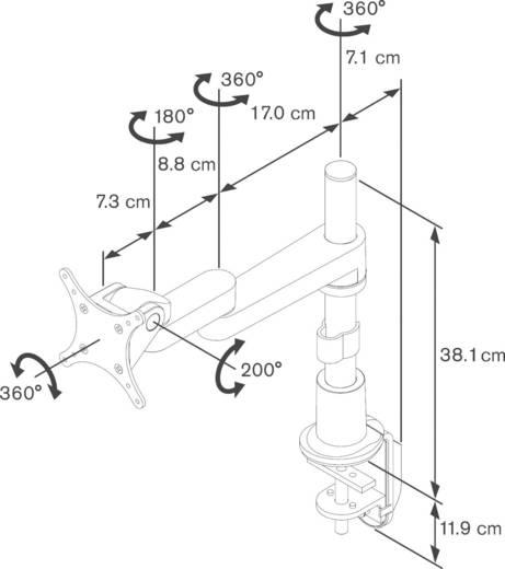 """Vogel´s PFD 8523 1fach Monitor-Tischhalterung 25,4 cm (10"""") - 66,0 cm (26"""") Neigbar+Schwenkbar, Rotierbar"""