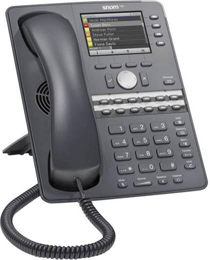 Systemtelefon,VoIP SNOM 760 Bluetooth, Headsetanschluss, WLAN, Freisprechen Farbdisplay Anthrazit