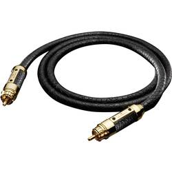 Cinch digitálny prepojovací kábel Oehlbach 13826, [1x cinch zástrčka - 1x cinch zástrčka], 1 m, čierna
