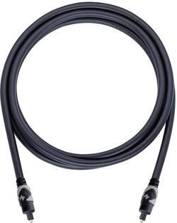 Toslink digitální audio kabel Oehlbach 132, 1 m, černá