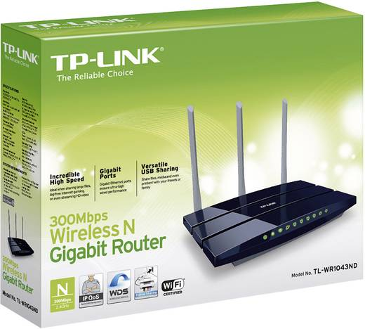 TP-LINK TL-WR1043ND WLAN Router 2.4 GHz 300 MBit/s