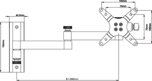 """Monitor-Wandhalterung 33,0 cm (13"""") - 68,6 cm (27"""") Neigbar+Schwenkbar Manhattan Ausziehbar"""