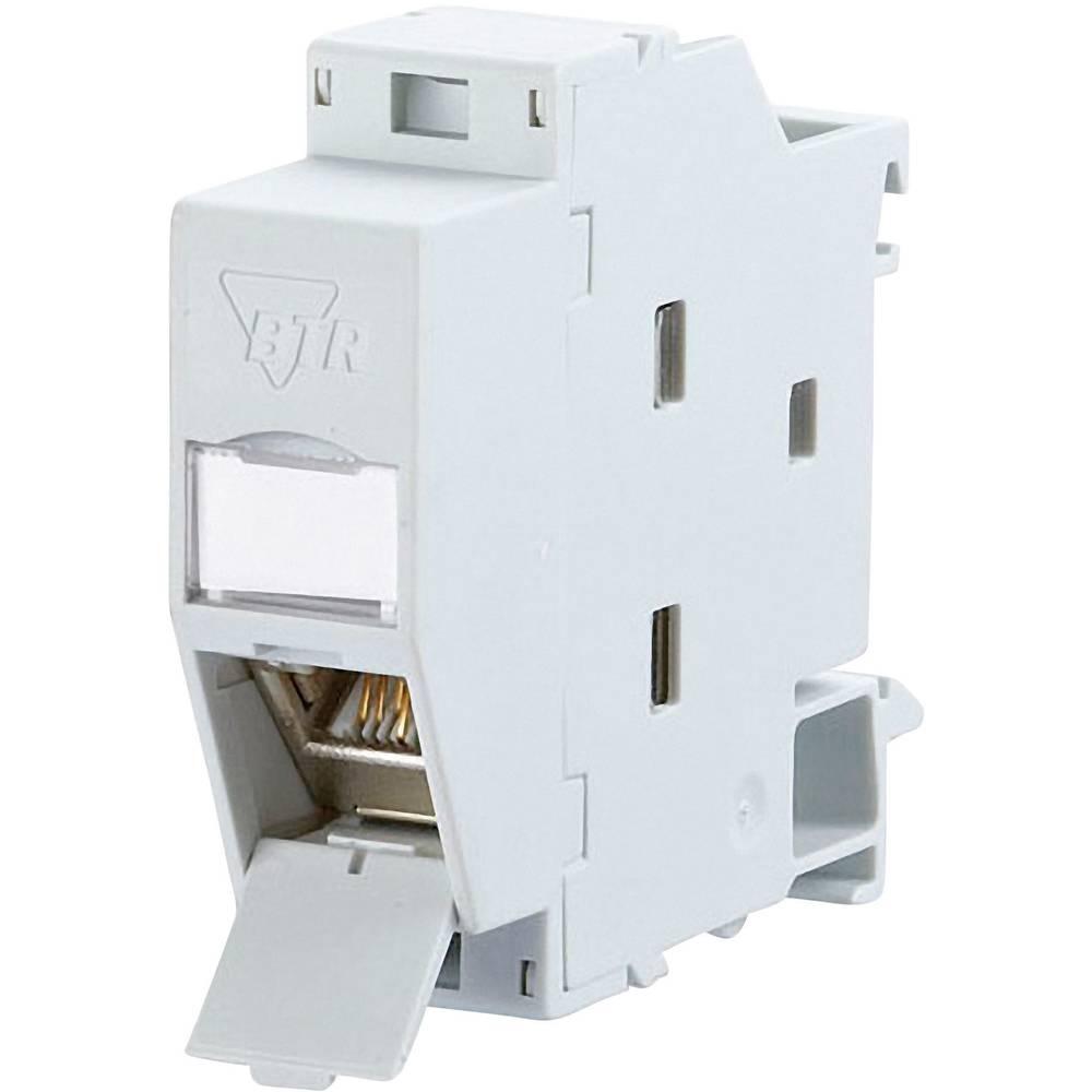 netzwerkdose hutschiene cat 6a metz connect 1309107003 e lichtgrau ral 7035 im conrad online. Black Bedroom Furniture Sets. Home Design Ideas