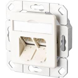 Sieťová zásuvka pod omietku Metz Connect 1307381101-I, CAT 6, 2 porty