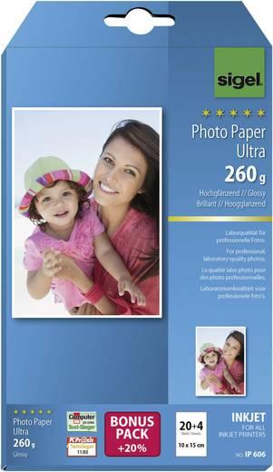 Fotopapier Sigel Photo Paper Ultra IP606 10 x 15 cm 260 g/m² 24 Blatt Hochglänzend