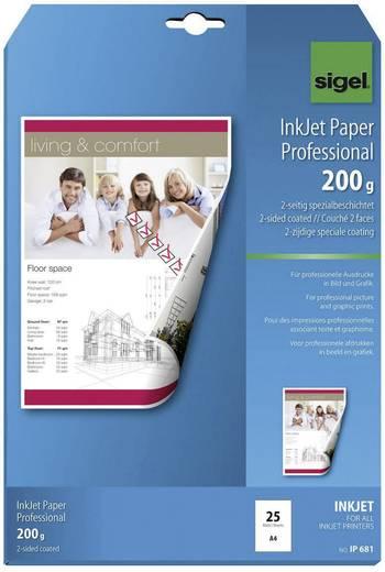 Tintenstrahl Druckerpapier Sigel Inkjet Paper Professional IP681 DIN A4 200 g/m² 25 Blatt Weiß