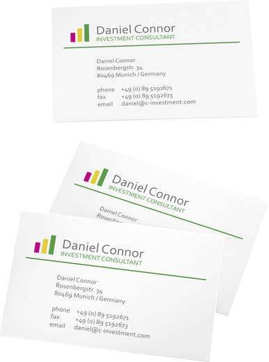 Bedruckbare Visitenkarten, glatte Kanten Sigel LP795 85 x 55 mm 225 g/m² Hoch-Weiß 100 St.