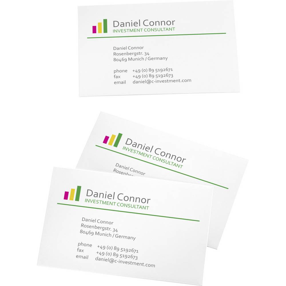 Printable business cards smooth edge sigel lp795 85 x 55 mm 225 printable business cards smooth edge sigel lp795 85 x 55 mm 225 gm bright reheart Choice Image