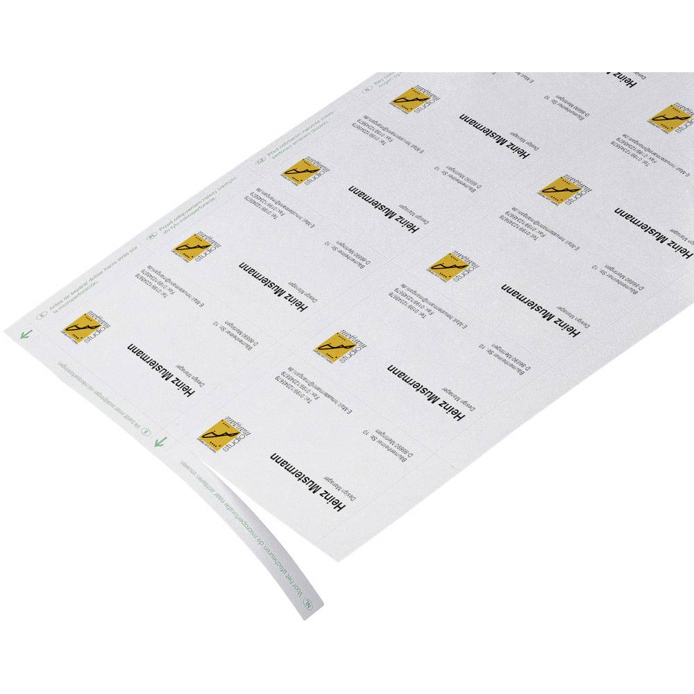 Printable business cards (micro-perforated) Sigel DP839 85 x 55 mm ...