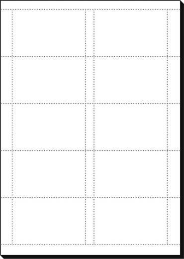 Bedruckbare Visitenkarten, microperforiert Sigel DP830 DIN A4 Hoch-Weiß 150 St.