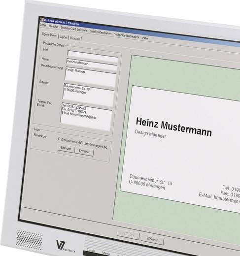 Bedruckbare Visitenkarten, microperforiert Sigel DP830 85 x 55 mm 185 g/m² Hoch-Weiß 150 St.