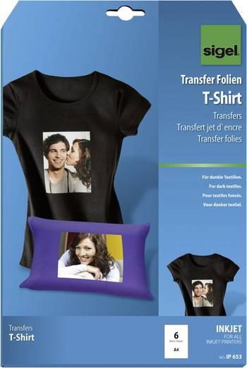 Sigel Inkjet-Transfer-Folien für T-Shirts, dunkel