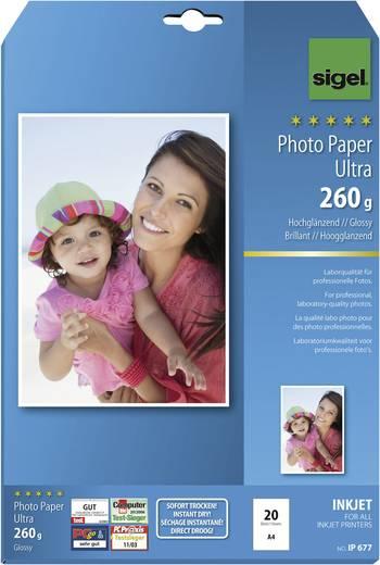 Fotopapier Sigel Fotopapier Ultra IP677 DIN A4 260 g/m² 20 Blatt Hochglänzend