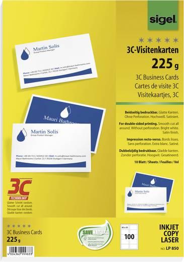 Sigel 3C-Visitenkarten, doppelseitig
