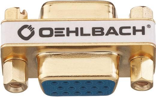 VGA Adapter [1x VGA-Buchse - 1x VGA-Buchse] Gold vergoldete Steckkontakte Oehlbach