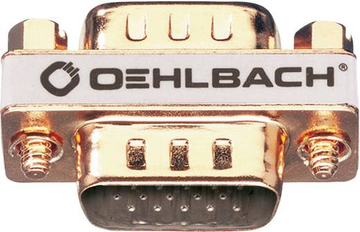 Oehlbach VGA Adapter [1x VGA-Stecker - 1x VGA-Stecker] Gold vergoldete Steckkontakte