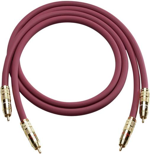 Cinch Audio Anschlusskabel [2x Cinch-Stecker - 2x Cinch-Stecker] 0.50 m Bordeaux vergoldete Steckkontakte Oehlbach 2043