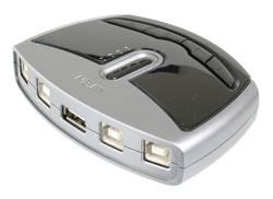 USB 2.0 prepínač ATEN ASS-US421, s 4 portmi, strieborná