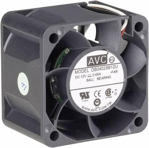 PC-Gehäuse-Lüfter AVC F4028 Schwarz (B x H x T) 40 x 40 x 28 mm
