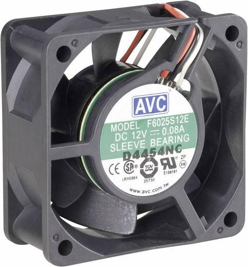 PC-Gehäuse-Lüfter AVC F6025 Schwarz (B x H x T) 60 x 60 x 25 mm