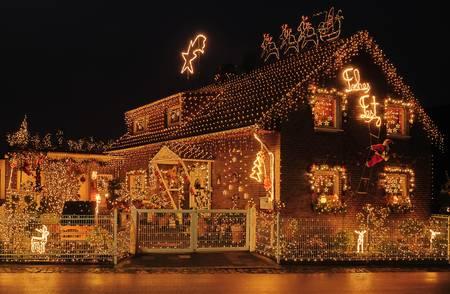 Outdoor Christmas lighting;