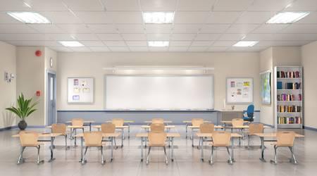 Klassenzimmer während Praktika