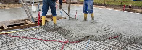 Betonieren eines Fundament/Decke