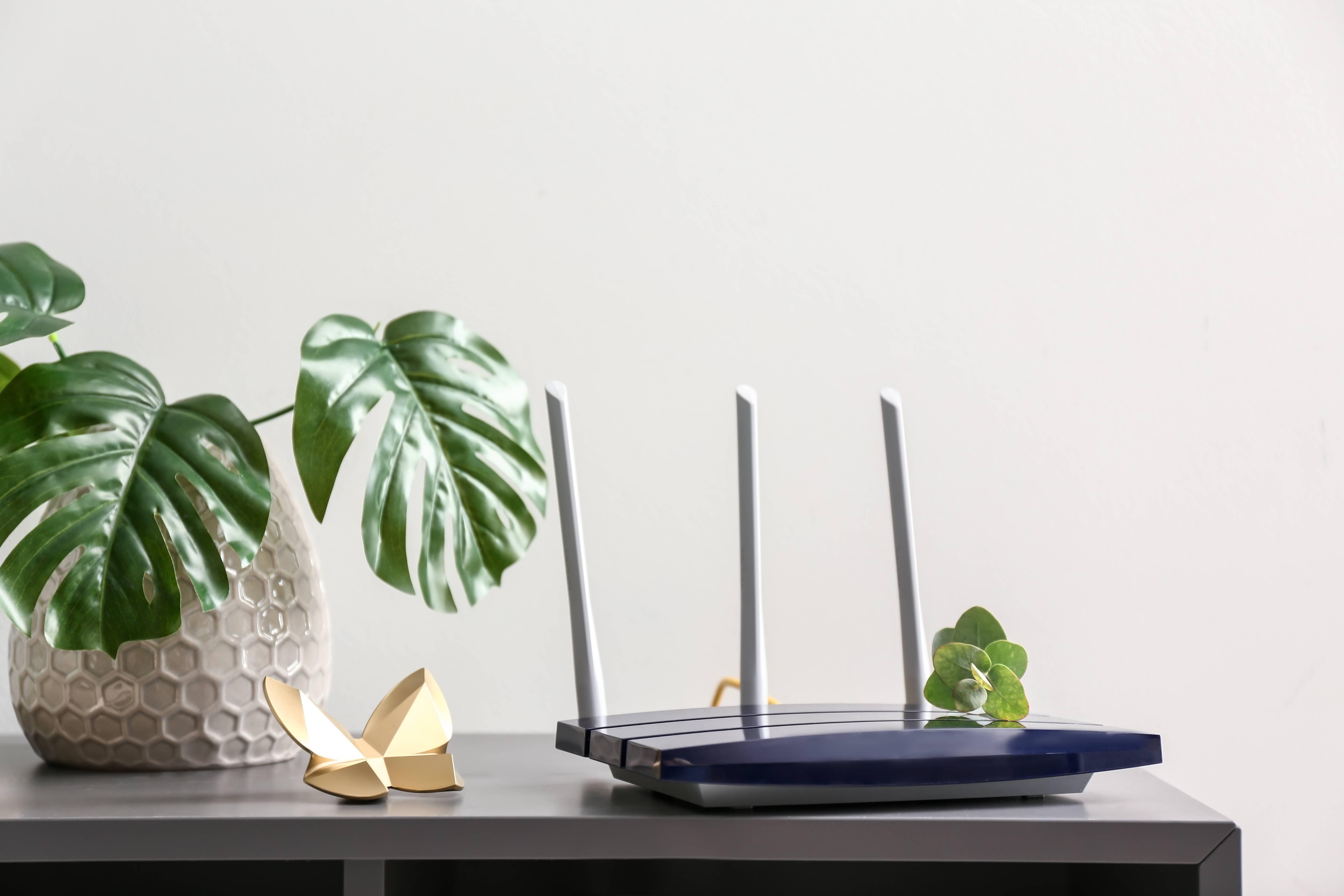 Router mit WLAN-Antennen