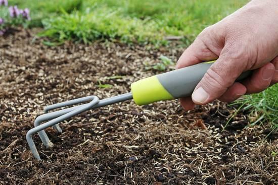 Den Boden bei der Gartenpflege im Frühjahr nur leicht bearbeiten