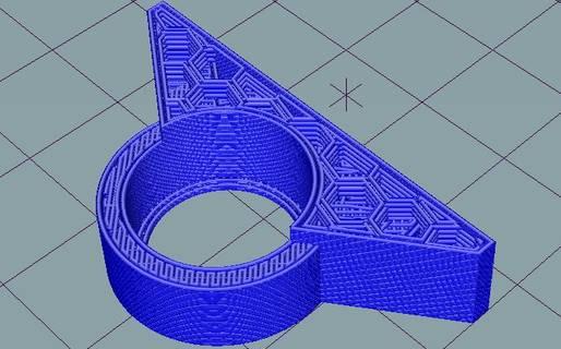Schichtweiser Aufbau eines 3D-Objektes