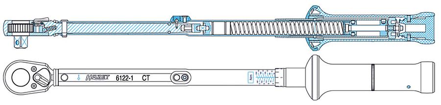 Aufbau eines Drehmomentschlüssels