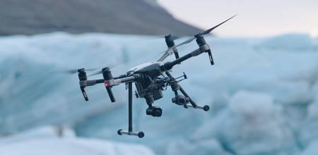 BOS-Drohne bei widrigen Bedingungen