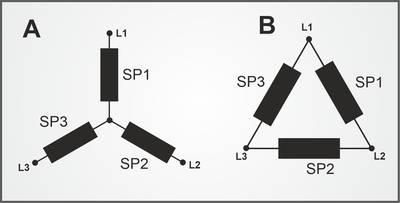 Schaltschema Stern-/Dreieckschaltung
