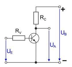 Emitterschaltung eines Transistors