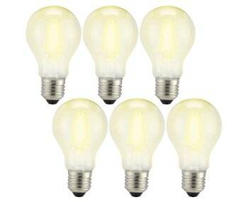 LED-Lampe in Glühlampenform verbessert die Energieeffizienz der Beleuchtung