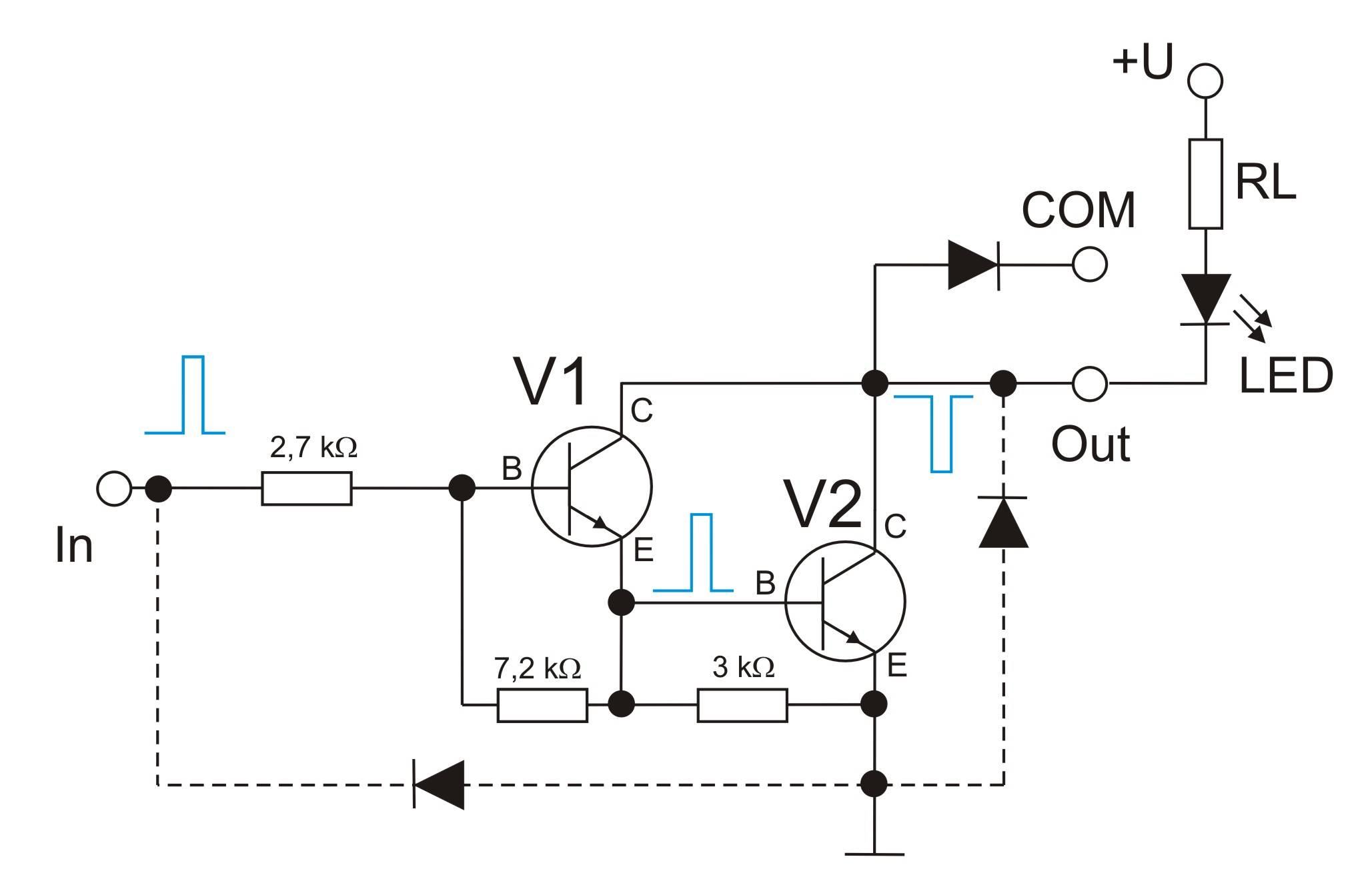 Prinzipschaltbild Darlington-Transistor