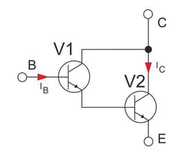 Darlington-Prinzipschaltbild