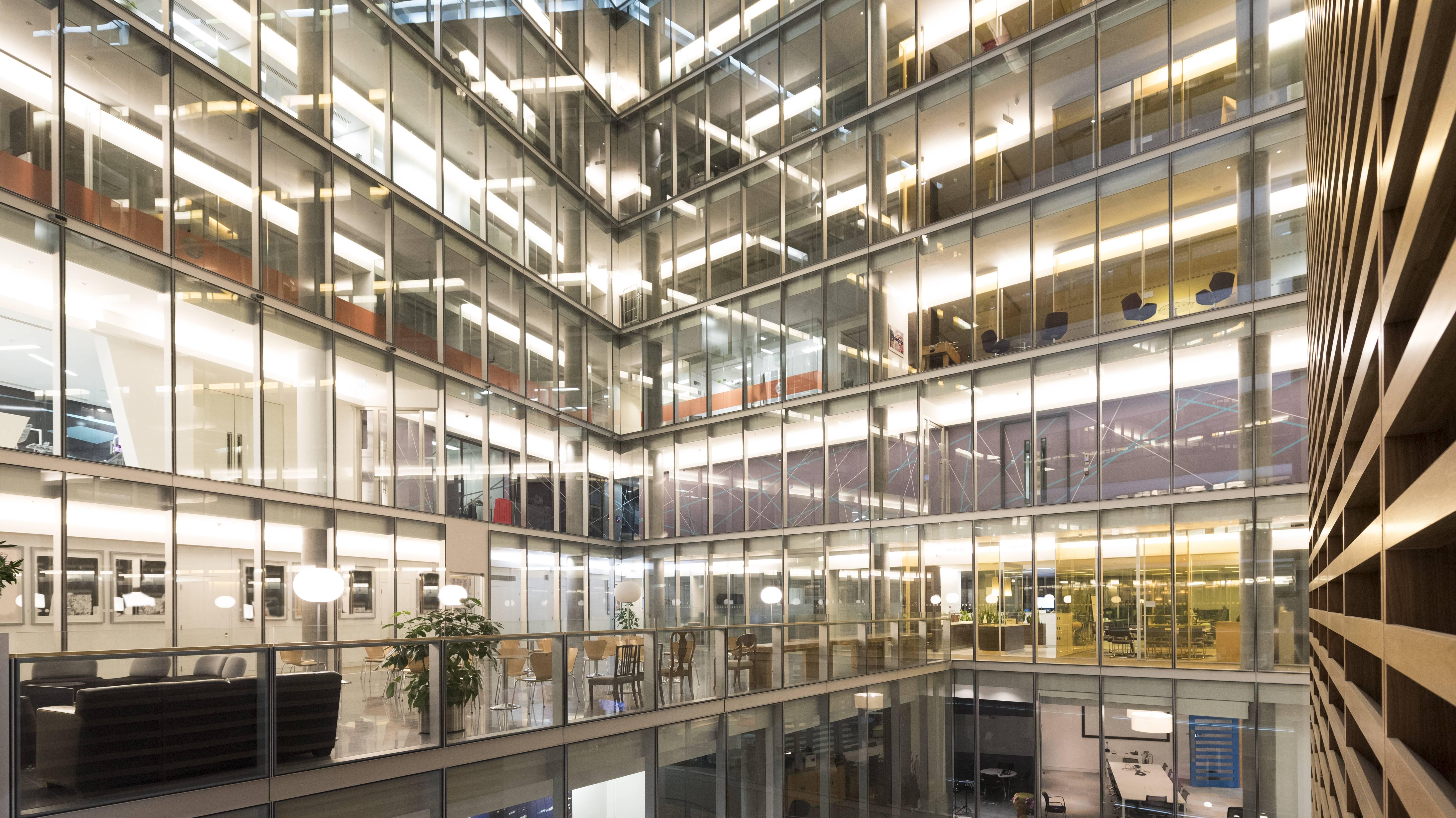 Leere Büros wegen Home Office