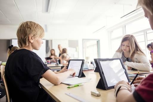 Alle Schüler haben ein eigenes Tablet
