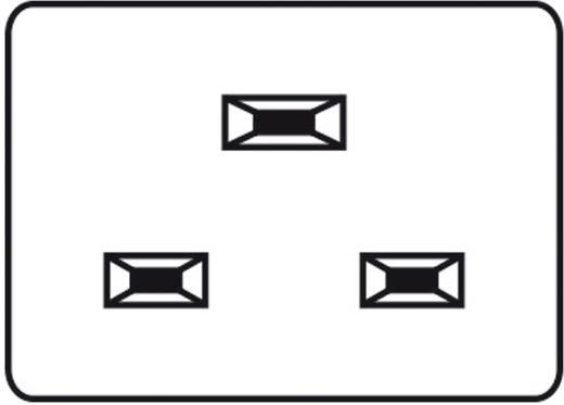 Kaltgeräte-Steckverbinder C20 Serie (Netzsteckverbinder) 767 Stecker, Einbau vertikal Gesamtpolzahl: 2 + PE 16 A Schwarz